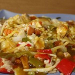 Салат с курицей карри