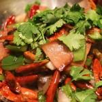 Салат с фасолью и имбирем